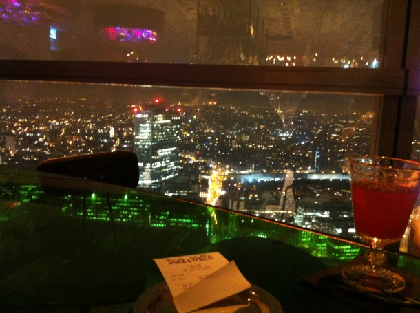 Dinner in the sky   Duck and Waffle