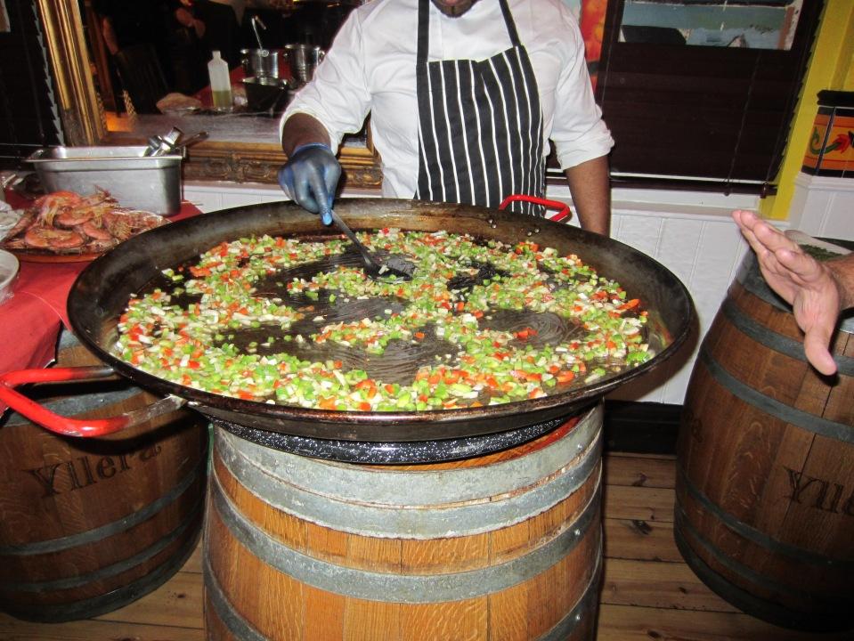 ginormous paella pan