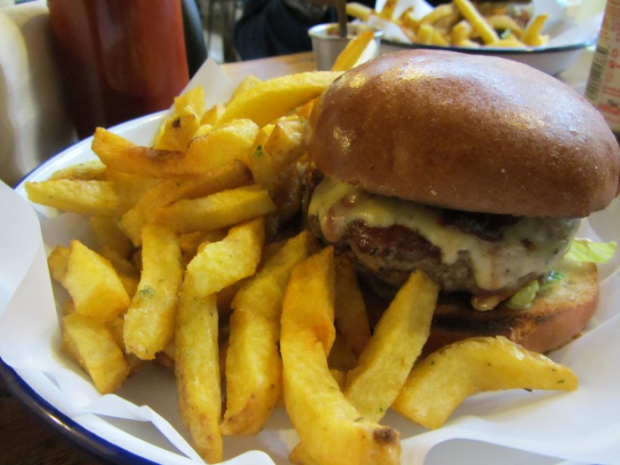 Honest Burgers - Cheese burger and Rosemary chips