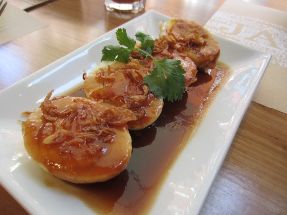 """Eggs in tamarind syrup"""