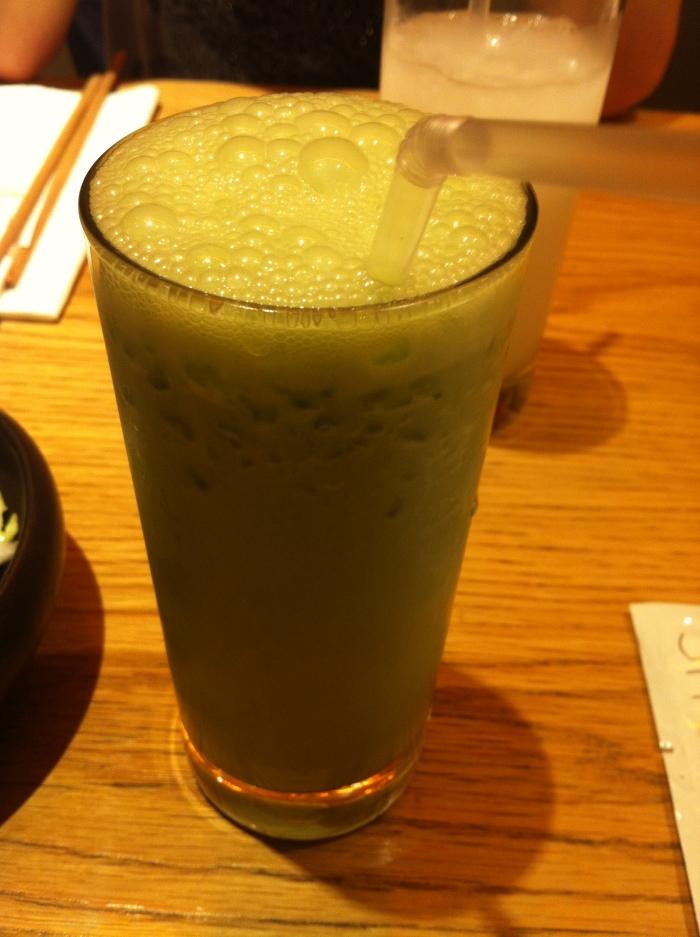 Matcha Green tea Ice cream smoothie