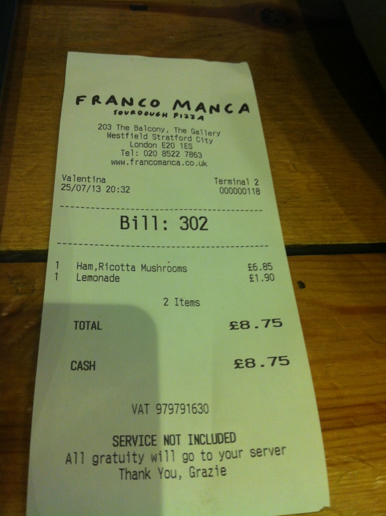Blistered sour dough pizzas   Franco Manca