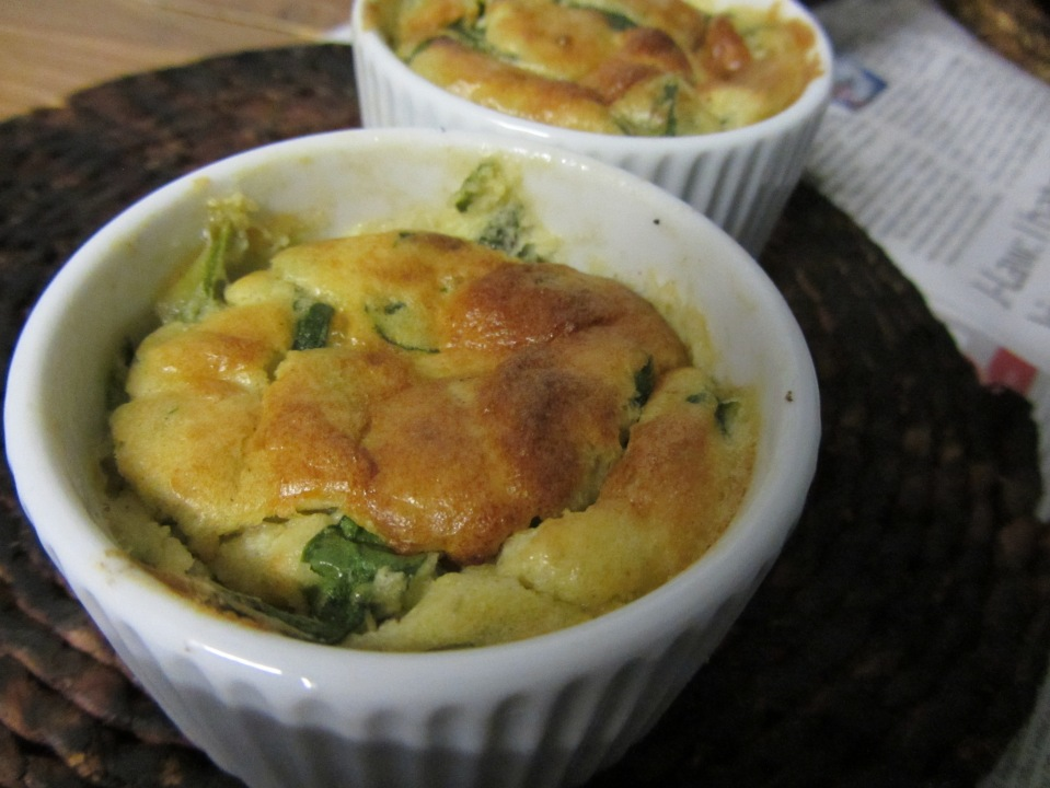 cheese and spinach soufle
