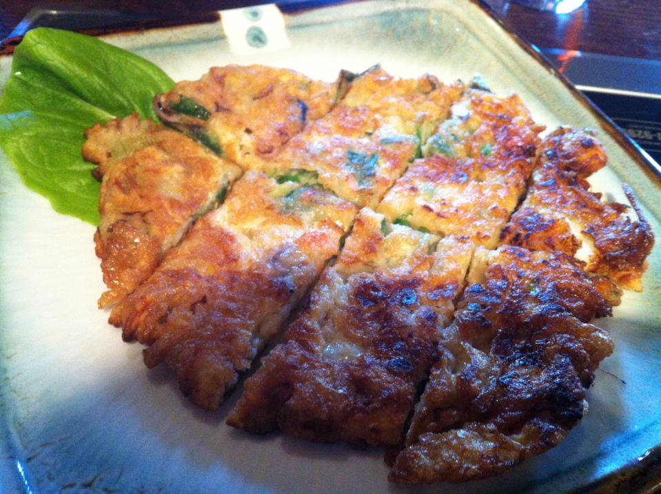 han kimchi pancake