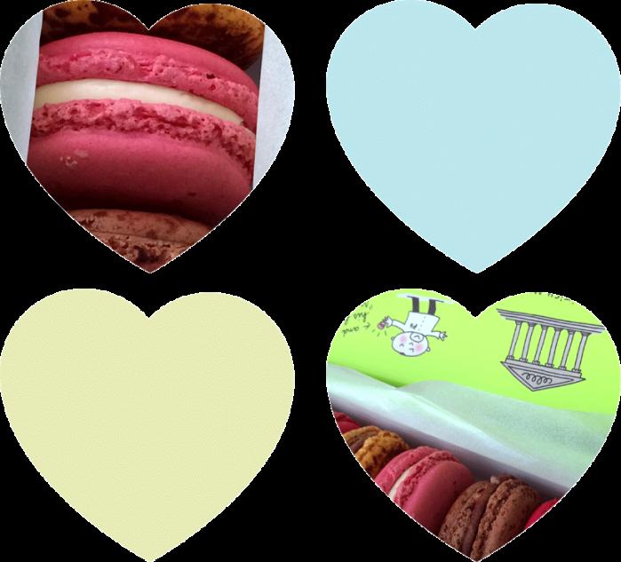 hearts-macarons